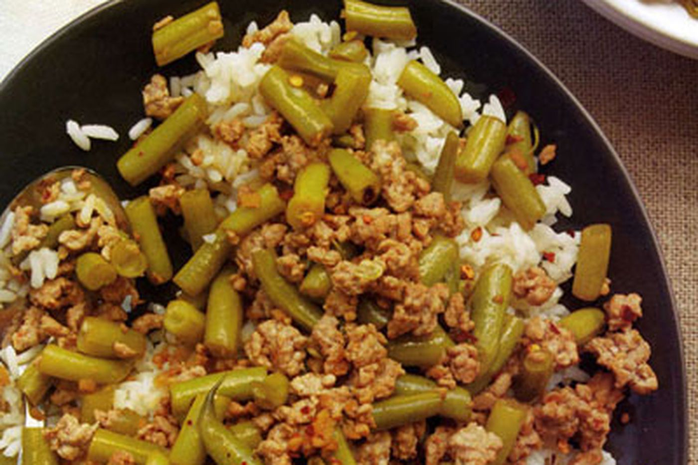 Rush Hour Gourmet: Sour Beans and Minced Pork