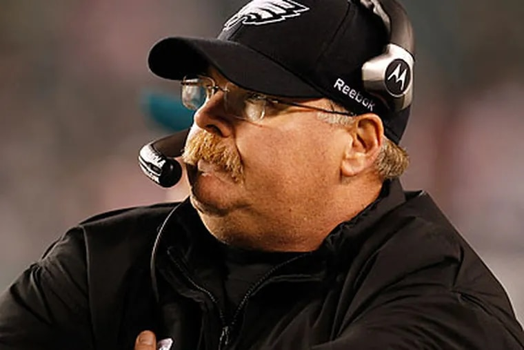 Eagles coach Andy Reid is on the hot seat this season to a degree that he has never been before. (Ron Cortes/Staff Photographer)