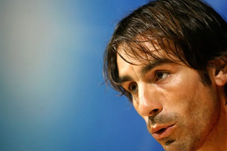 """Robert Pires rejected an offer to join the Union. """"It does not please me to [go to Philadelphia],"""" said Pires. (AP Photo / Alberto Saiz)"""