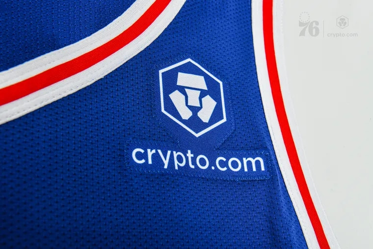 The Sixers will introduce a new jersey patch and partnership with Crypto.com.