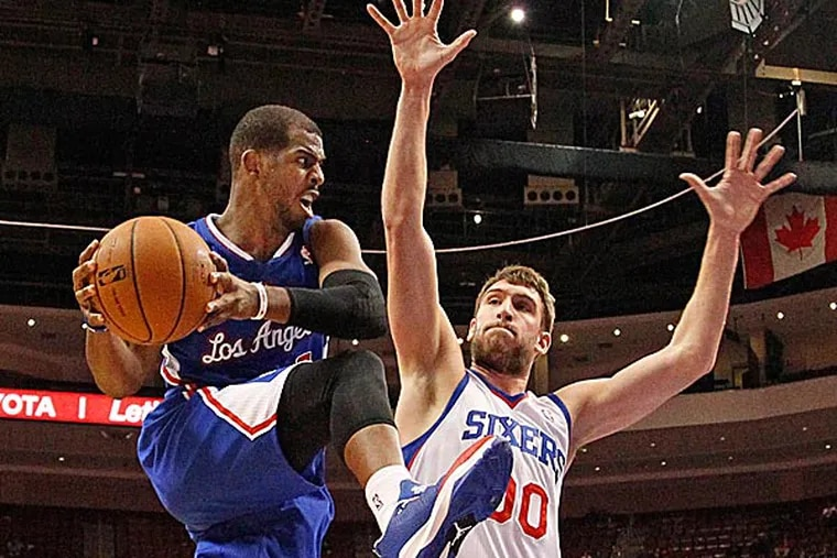 The Sixers' Spencer Hawes. (Ron Cortes/Staff Photographer)