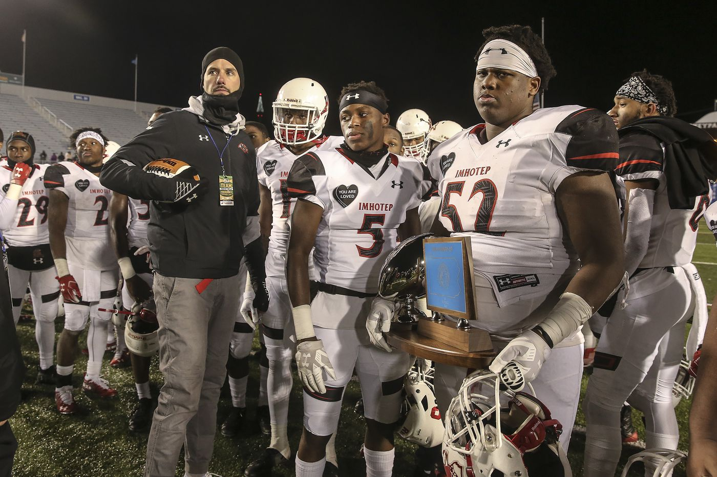 Imhotep Charter's state football title bid is thwarted for the third straight time by Erie's Cathedral Prep