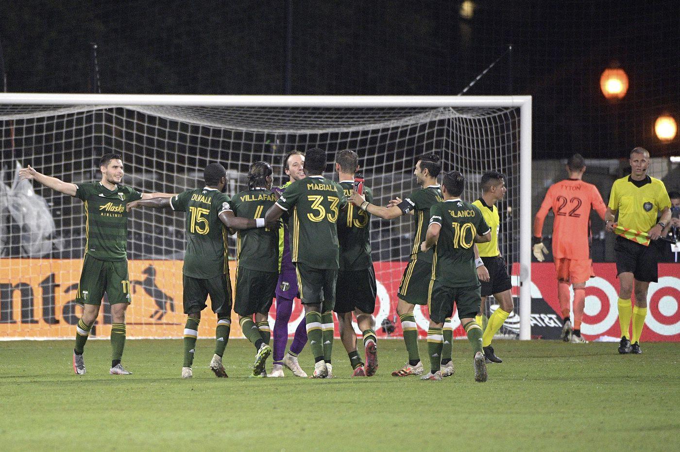 Portland beats Cincinnati, Minnesota upsets Columbus to reach MLS tournament quarterfinals