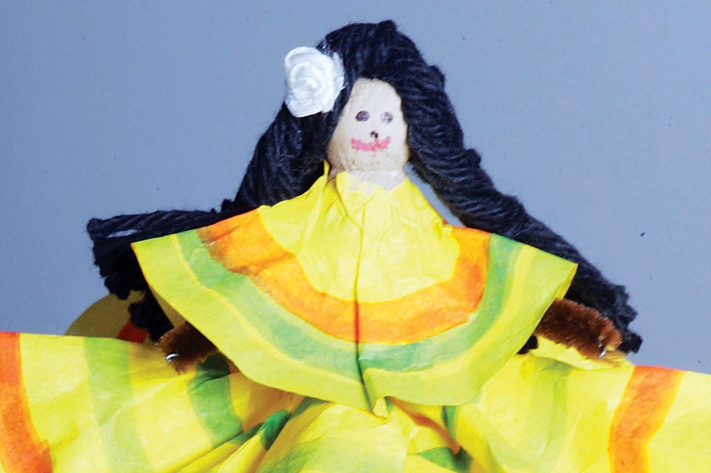 Kids crafts: Mexican dancing doll