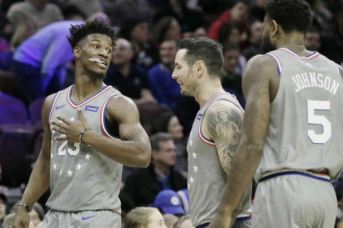 Jimmy Butler using talks with Sixers' teammates to steepen his learning curve on court