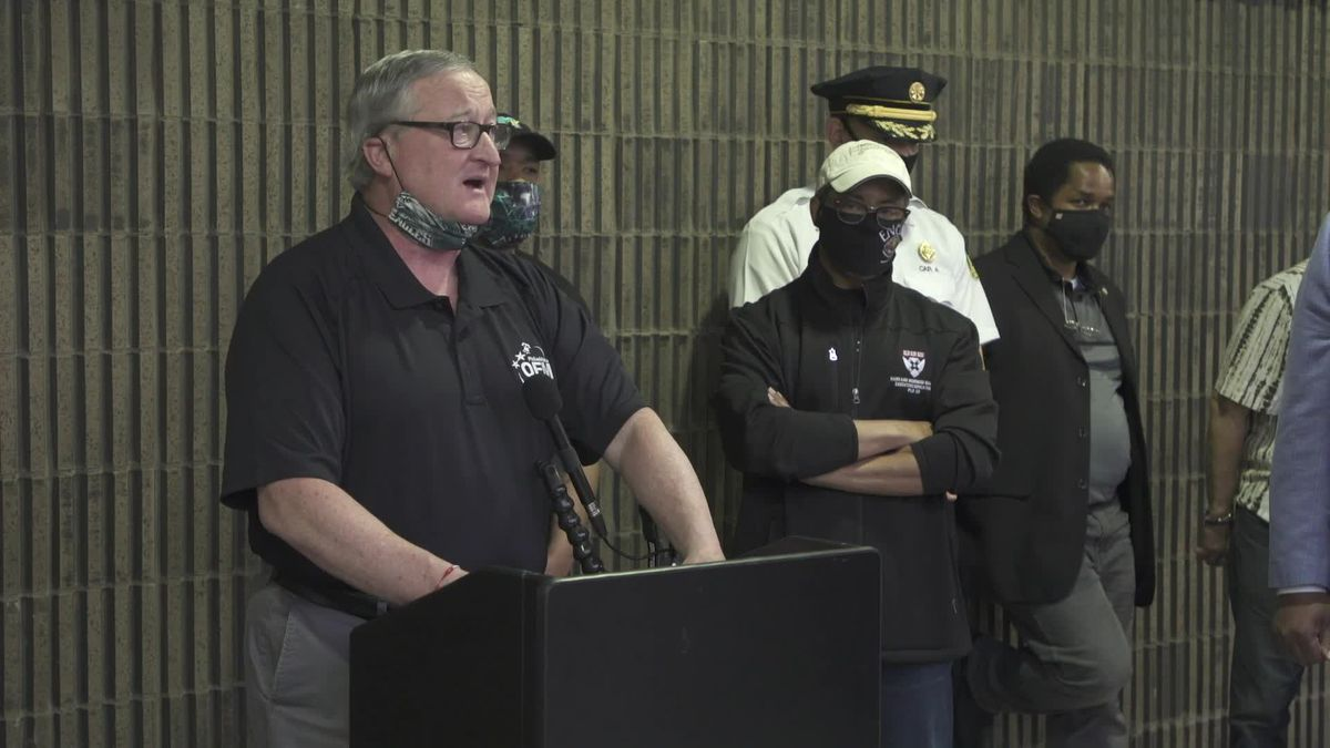 Video: Philadelphia Mayor Jim Kenney and Commissioner Danielle Outlaw speak about protests