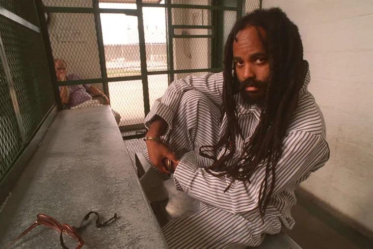 Mumia Abu-Jamal on death row in the 1990s.
