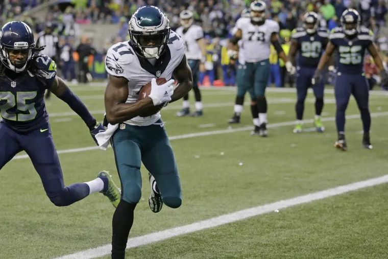 Eagles wide receiver Nelson Agholor, who played poorly against the Seahawks, may see action against the Packers Monday night.