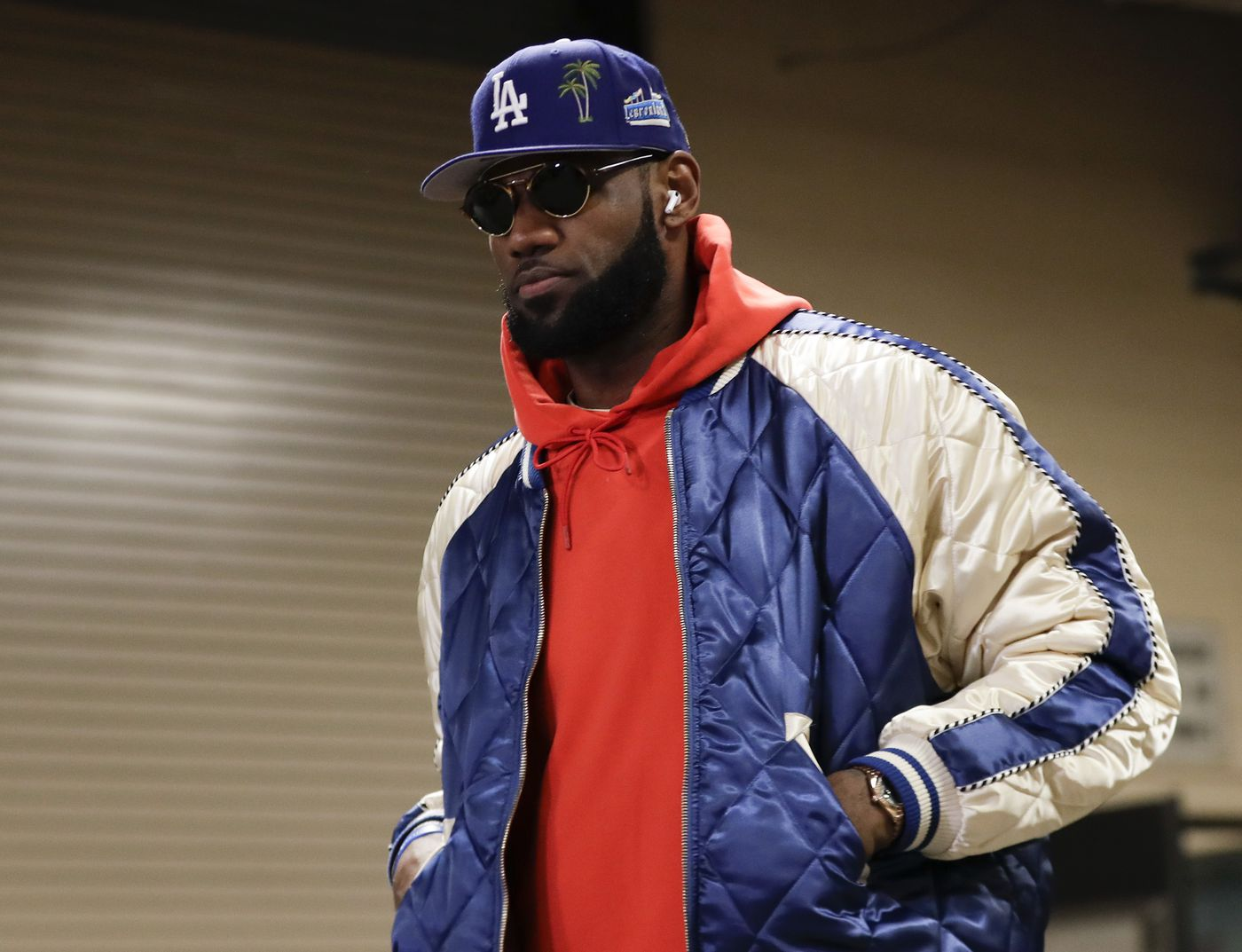 Los Angeles Lakers forward LeBron James walks into the Wells Fargo Center before the Sixers play the Lakers on Saturday, January 25, 2020 in Philadelphia.