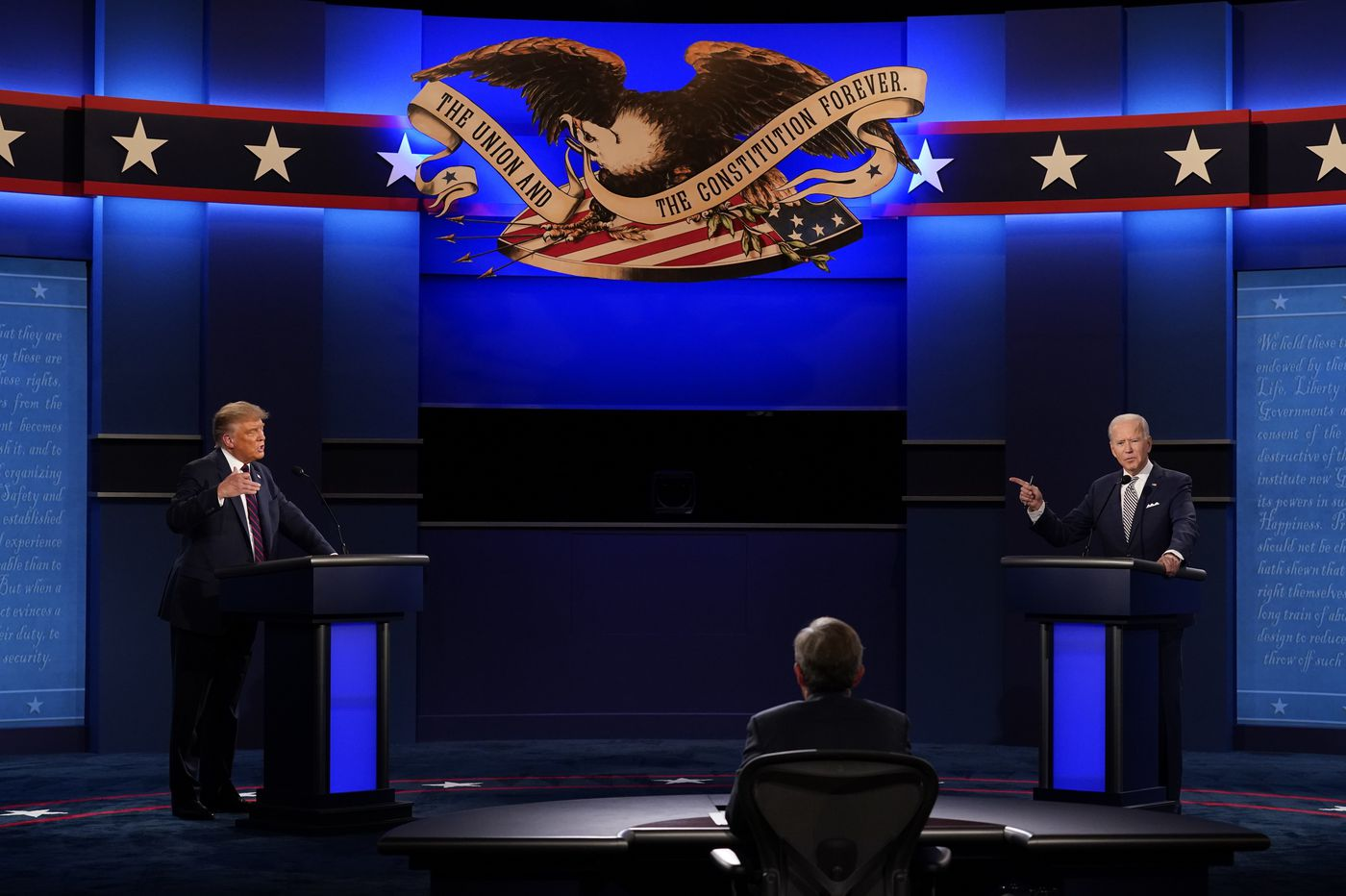 Trump's taunts overshadow his, Biden's visions during first debate