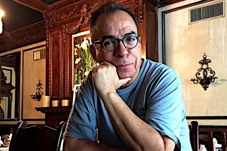 """Alfredo Corchado, author of """"Homelands,"""" at Philly's Tequilas Restaurant."""