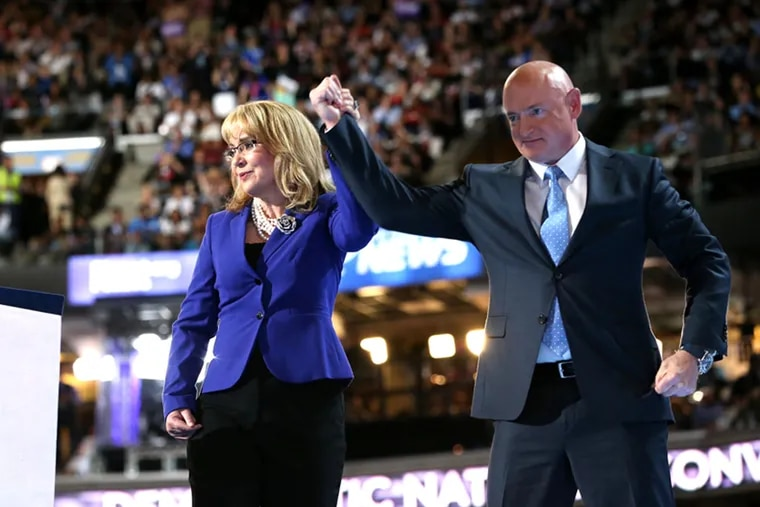 Gabrielle Giffords and her husband Mark Kelly's organization Giffords: Courage to Fight Gun Violence is one of the gun-control groups hoping bills will be passed by the new House. (JESSICA GRIFFIN / Staff Photographer)