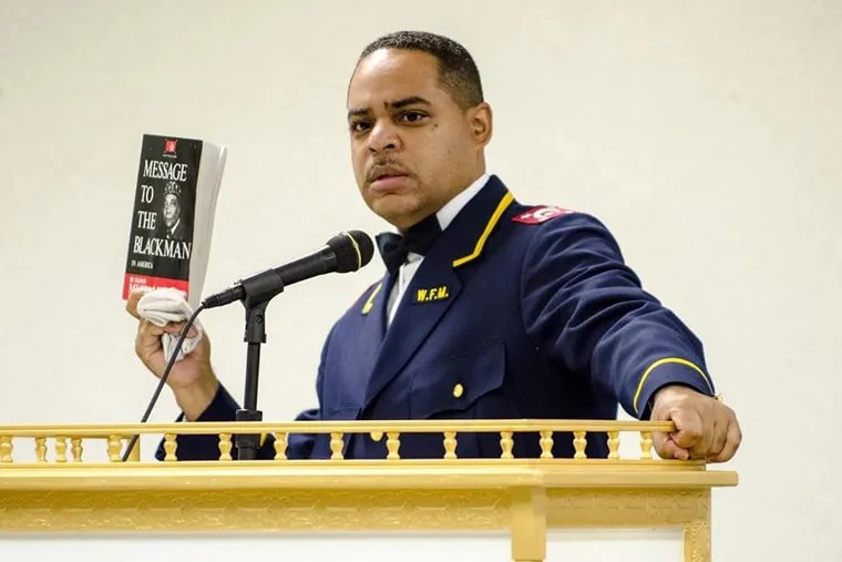 Wesley Muhammad, who claims the U.S. government produces a type of marijuana that makes black men become gay, was pulled from an event this weekend to be held at a Philadelphia charter school.