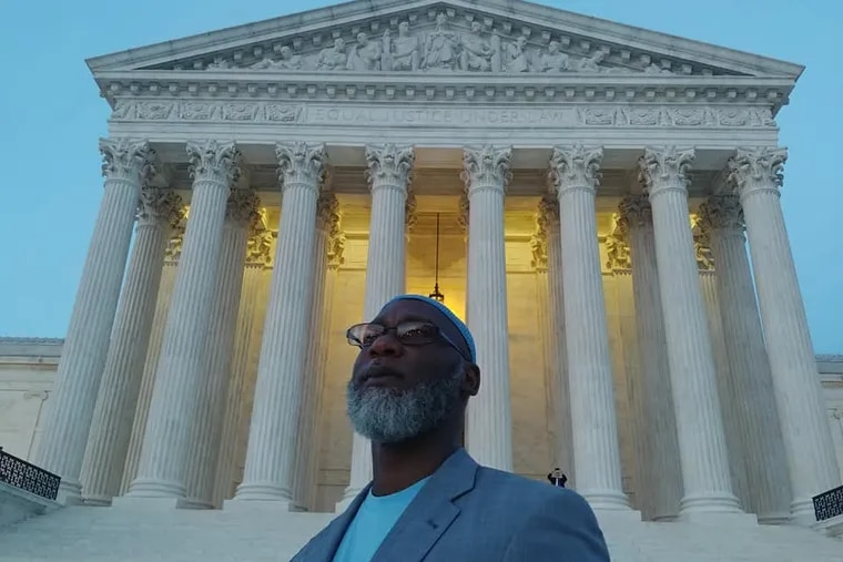 Abd'Allah Lateef in front of the U.S. Supreme Court while visiting Washington, D.C., for the Incarcerated Children's Advocacy Network's first Impact Day. Lateef spent 31 years in prison before Supreme Court rulings overturned life without parole sentences for persons convicted of murder as juveniles.
