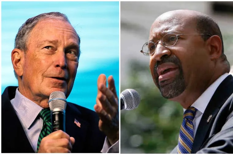 Former New York City Mayor Michael Bloomberg was endorsed Thursday  by former Philadelphia Mayor Michael Nutter, who will also serve as a national political chairman.