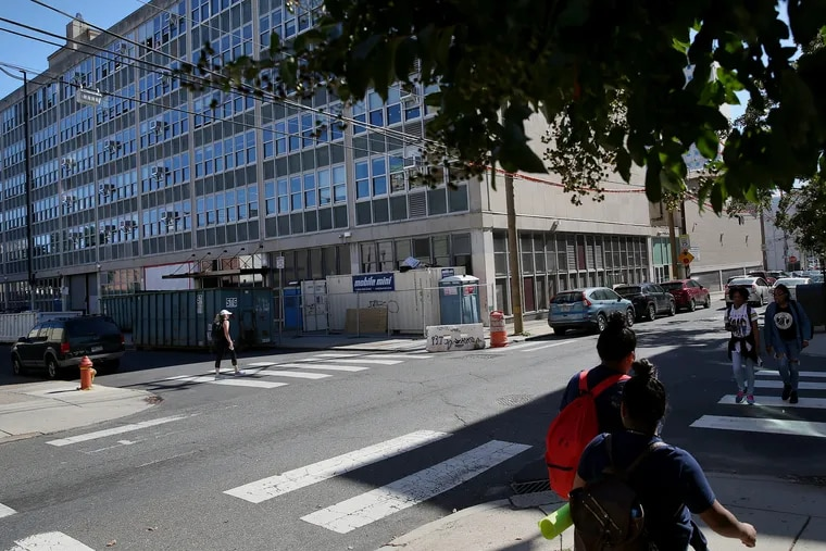 Benjamin Franklin High School is pictured in Philadelphia on Friday, Oct. 4, 2019. A recent report from the Philadelphia School District's Office of the Inspector General details how district officials failed in transitioning Science Leadership Academy students to the site, where asbestos exposure endangered students and staff.