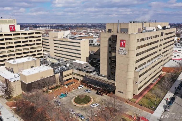 Temple University Hospital in March. DAVID SWANSON / Staff Photographer