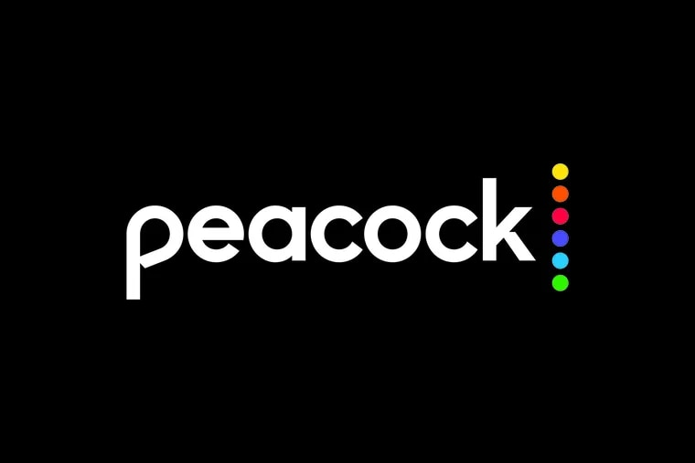 Logo for new Peacock streaming service from Comcast.
