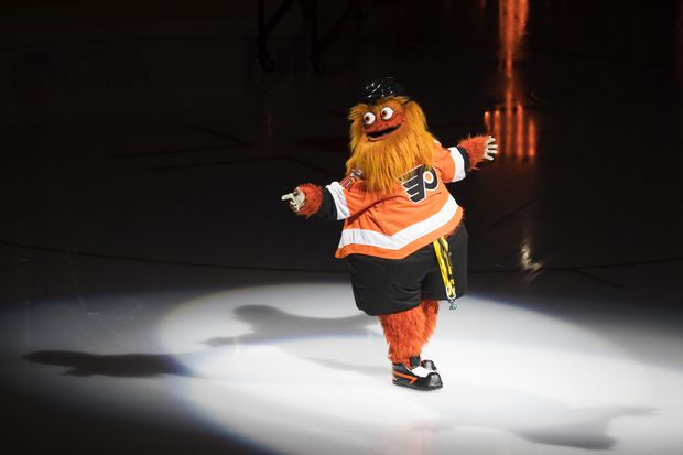 At NHL All-Star weekend, Gritty punched a dodgeball ref, outdid the Fiji girl, and rode a hockey stick to victory