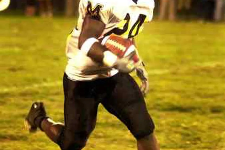 Albert Young in 2002 at Moorestown. He was the offensive player of the year that season, as he had been in 2000.