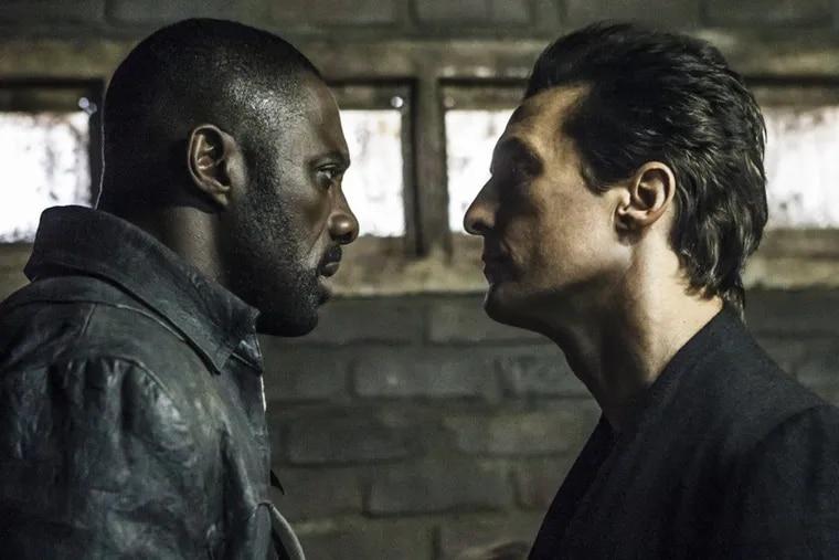 "Idris Elba (left) and Matthew McConaughey in ""The Dark Tower."""
