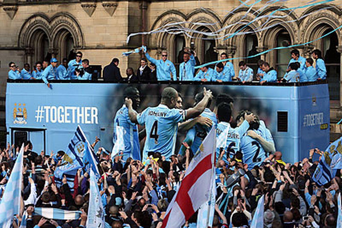 Ecstatic City fans paint Manchester blue
