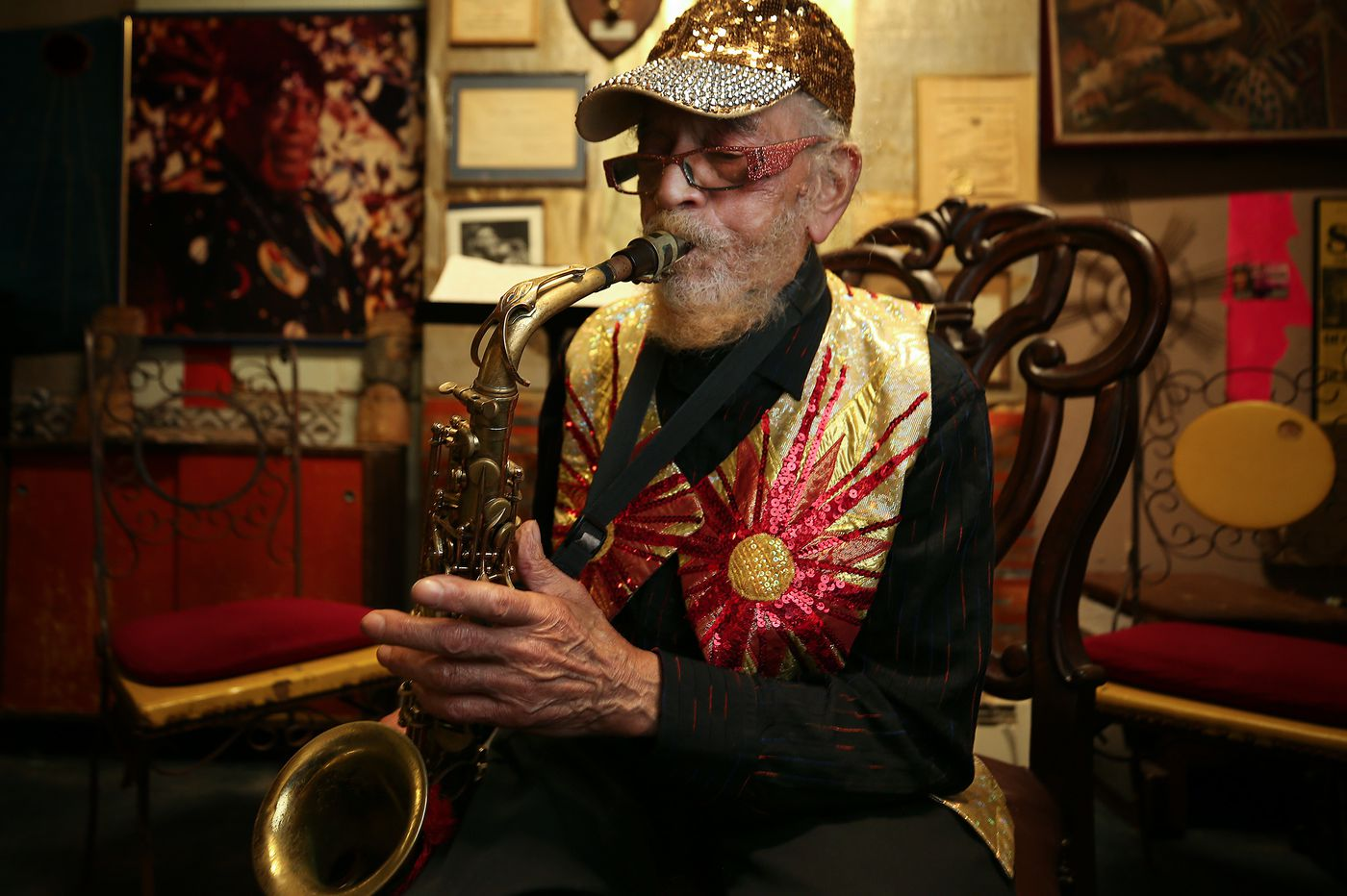 Sun Ra Arkestra is now traveling the spaceways with their first studio album in decades. We caught up with them at home in Philly.