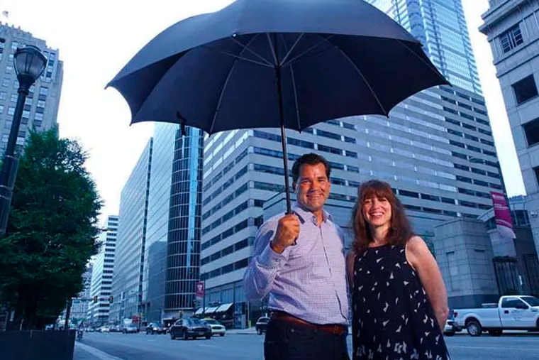 Jay Ciccarone and Susan Steinbrink have partnered to create WeatherPlanner, which has algorithms to predict weather for the next 365 days, based on more than 100 years of data. ( Michael Bryant / Staff Photographer )