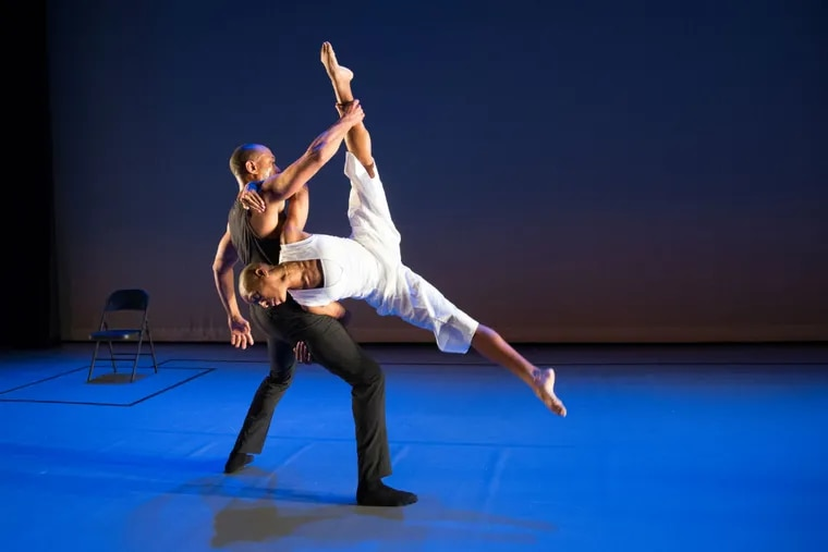 Meredith Rainey and Tania Isaac perform in '(In)visible' at the Annenberg Center. ALEXANDER IZILIAEV
