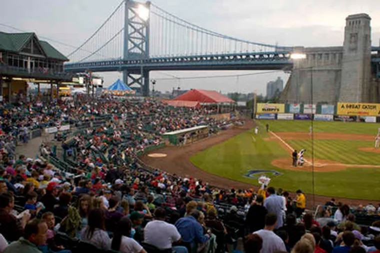 Among this Campbell's Field crowd at this year's Riversharks home opener were the peanut-sensitive folks in Suite 319.