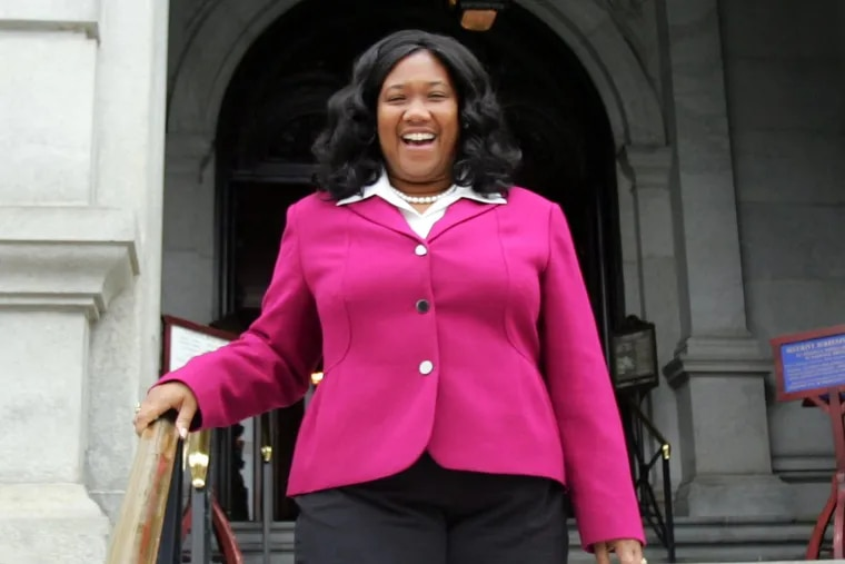 Vanessa Brown shortly after being elected  in 2008.