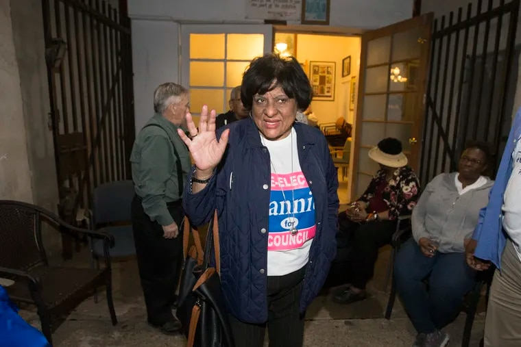 Councilwoman Jannie Blackwell says goodbye to supporters after losing the Democratic primary for District 3 on May 21.