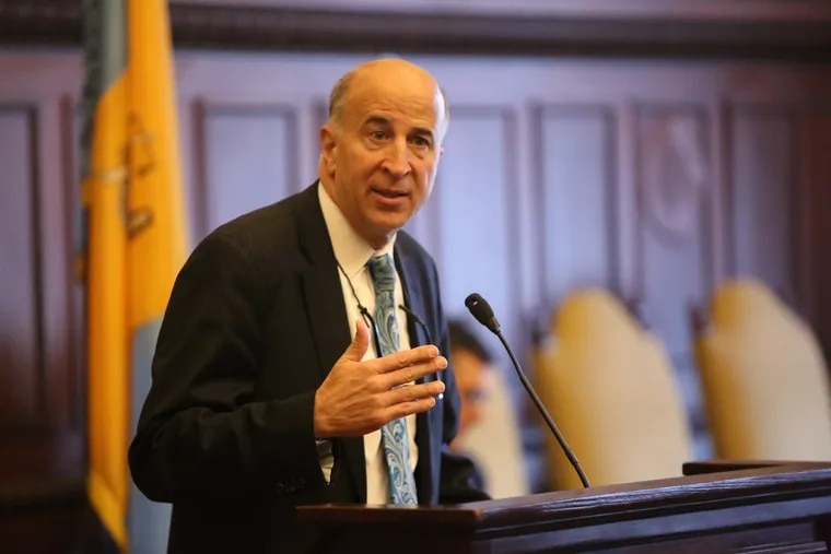 Councilman Mark Squilla, pictured here in April, has attempted to re-zone a potential spot for a supervised-injection site in his district. But in the legal no-man's-land that is a supervised-injection site, it's unclear what power council actually has to block a site.