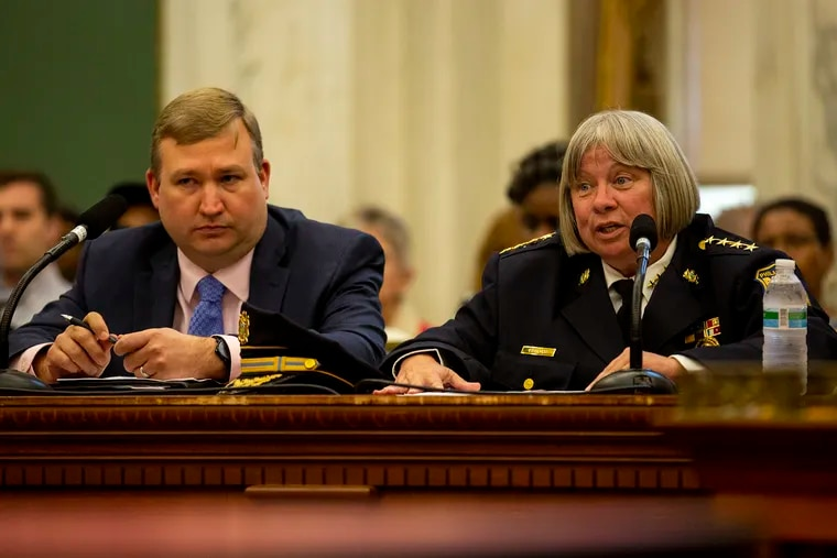 Acting Police Commissioner Christine M. Coulter speaks at Philadelphia City Council committee hearing at City Hall on Tuesday, Sept. 10, 2019.