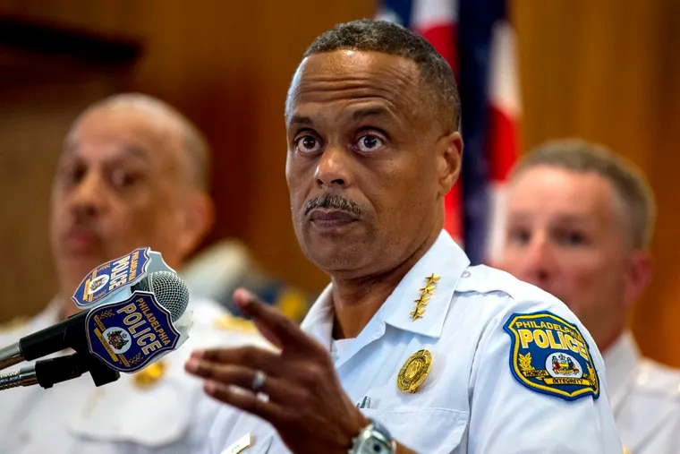 Police Commissioner Richard Ross holds a press conference at the Police Administration Building on June 17, 2019.