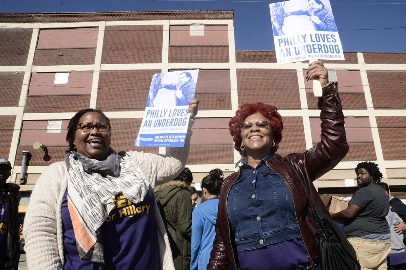 Union workers rally, urge votes for Clinton and McGinty