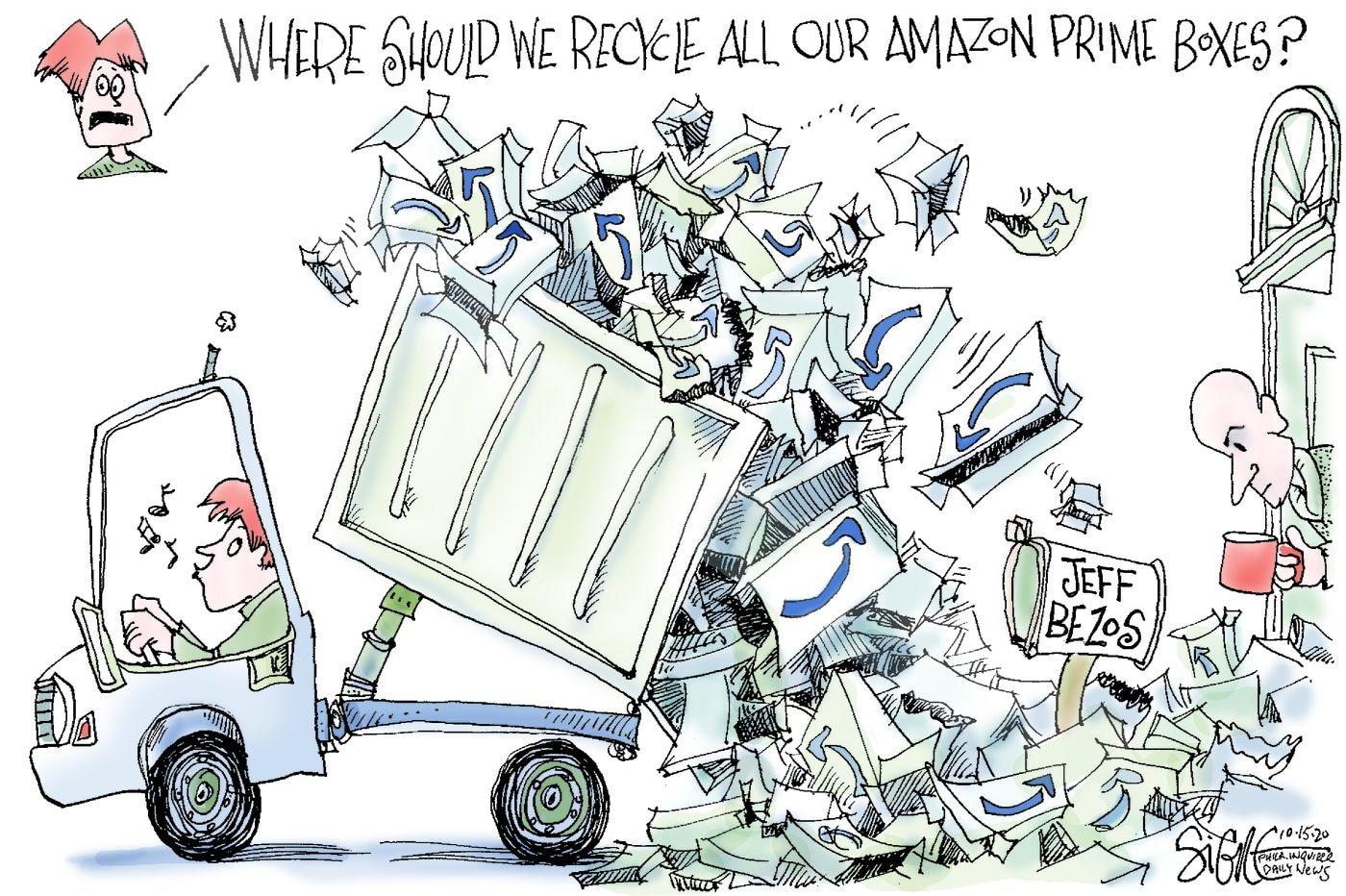 Political Cartoon: Amazon dump site
