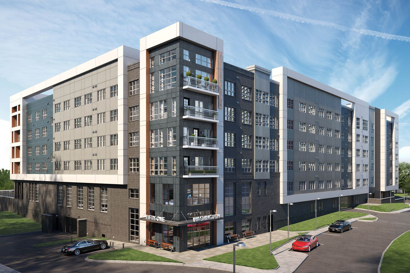 The Conshohocken building boom continues with a big apartment complex near SEPTA train