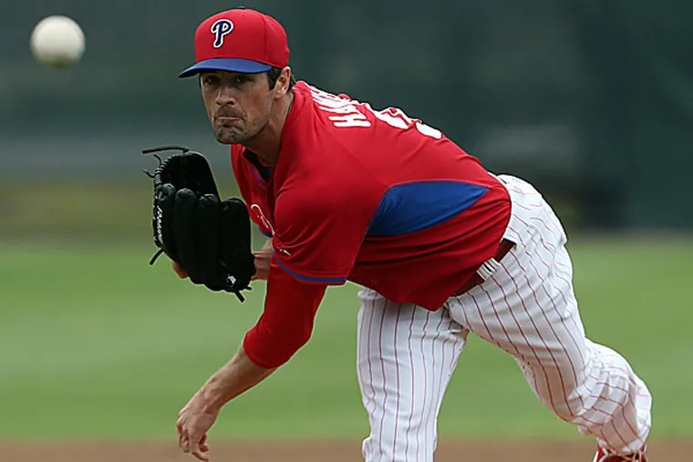Phillies starting pitcher Cole Hamels. (Yong Kim/Staff Photographer)