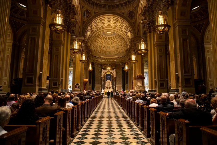 Archbishop Charles J. Chaput honors several members of the archdiocese's staff who have been awarded papal honors from Pope Francis for their exceptional service to the Catholic Church on Thursday, Sept. 5, 2019 at the Cathedral Basilica of Saints Peter and Paul.
