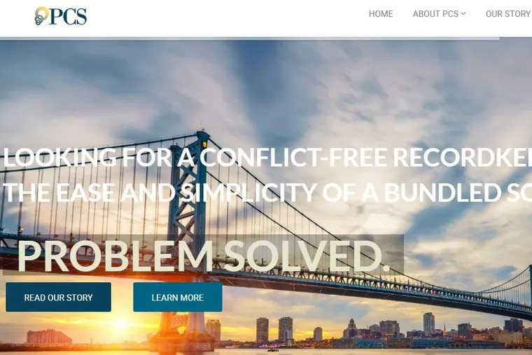 A view of the Professional Capital Services website