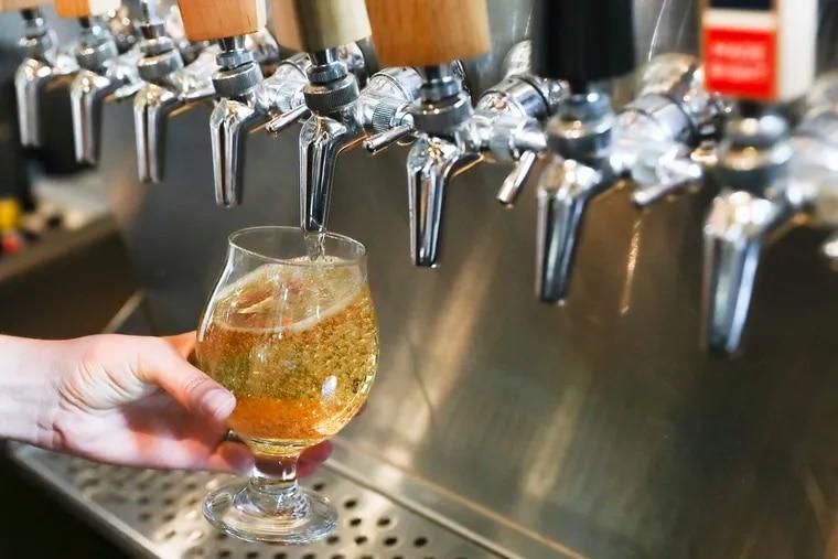 Cider on tap at Hale & True Cider Co. in the Bella Vista section of Philadelphia.