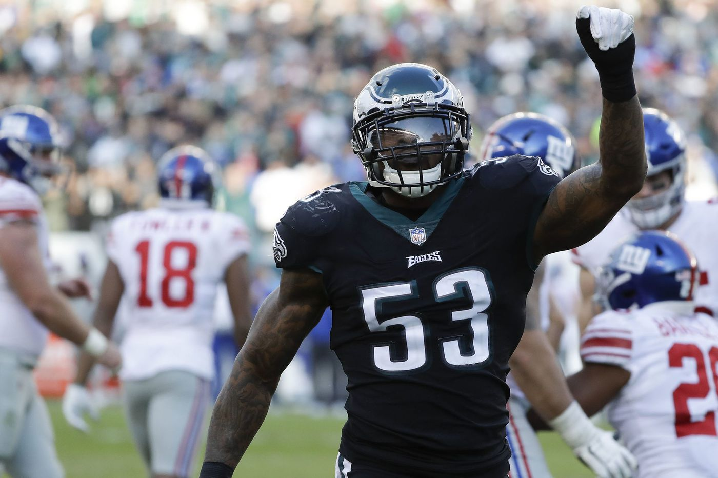 Nigel Bradham's toughness; Duce Staley still calls backfield a committee; the defensive end rotation   Early Birds