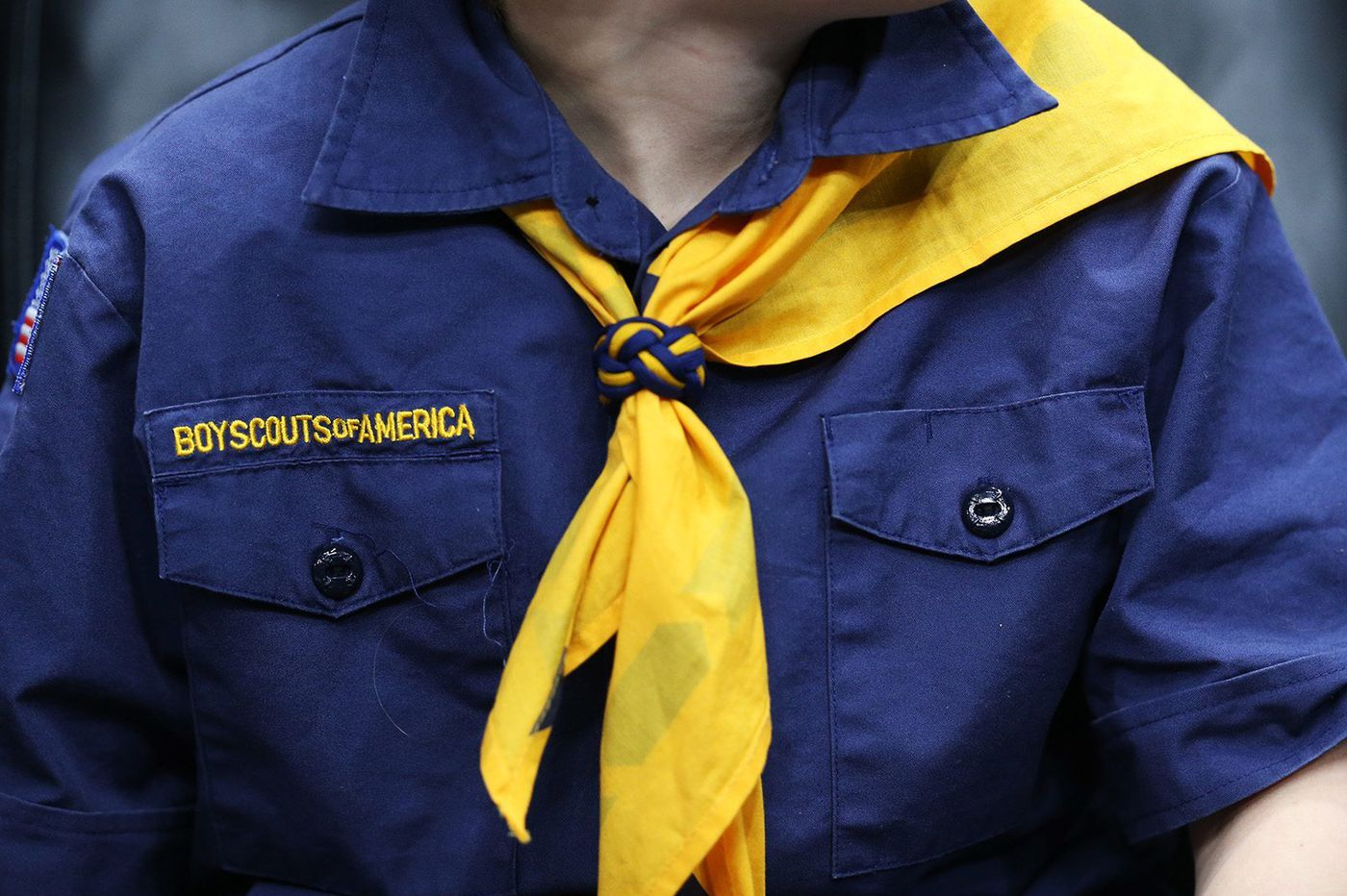 Boy Scouts commemorate Memorial Day by replacing flags at veterans' graves