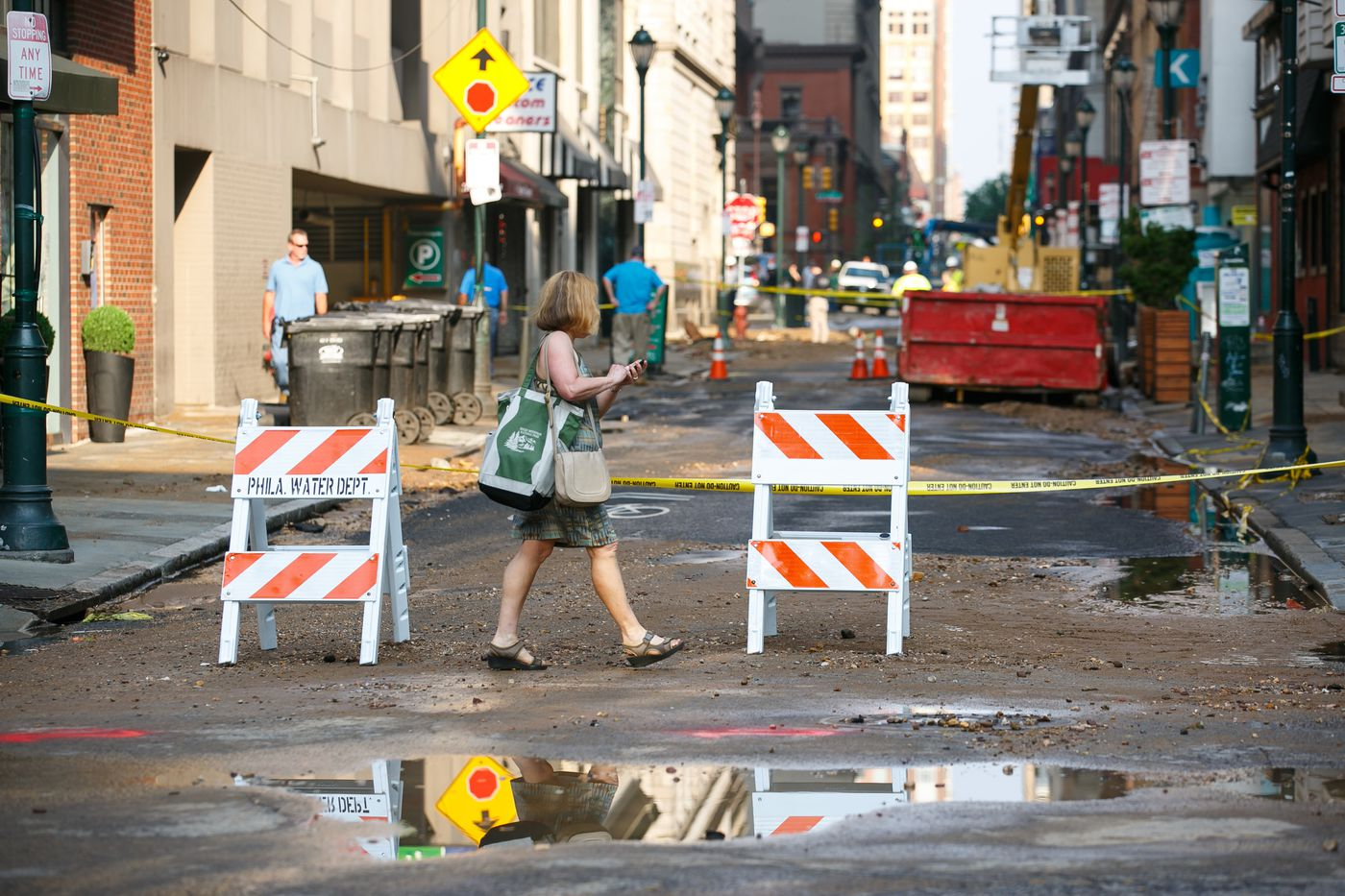 Center City water main break repairs 'ideally' to take 'until the end of this calendar year'
