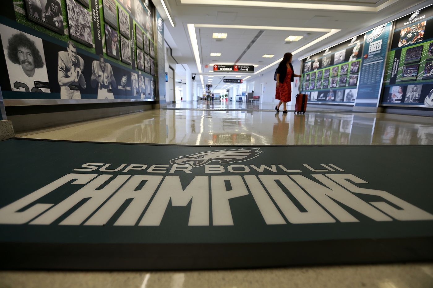 Eagles exhibit at Philly airport lets fans relive Super Bowl victory