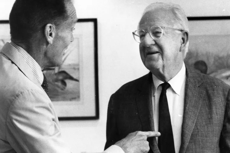 Walter Morgan, founder of the Wellington Fund, at right, with Vanguard founder John Bogle.