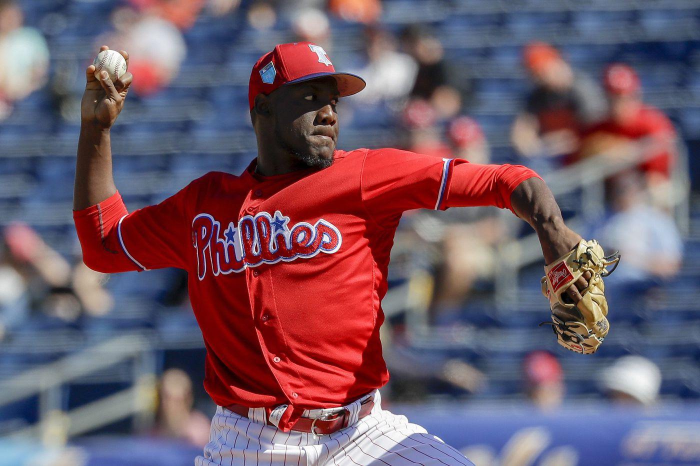 Phillies prospect Enyel De Los Santos in line to make major-league debut Tuesday