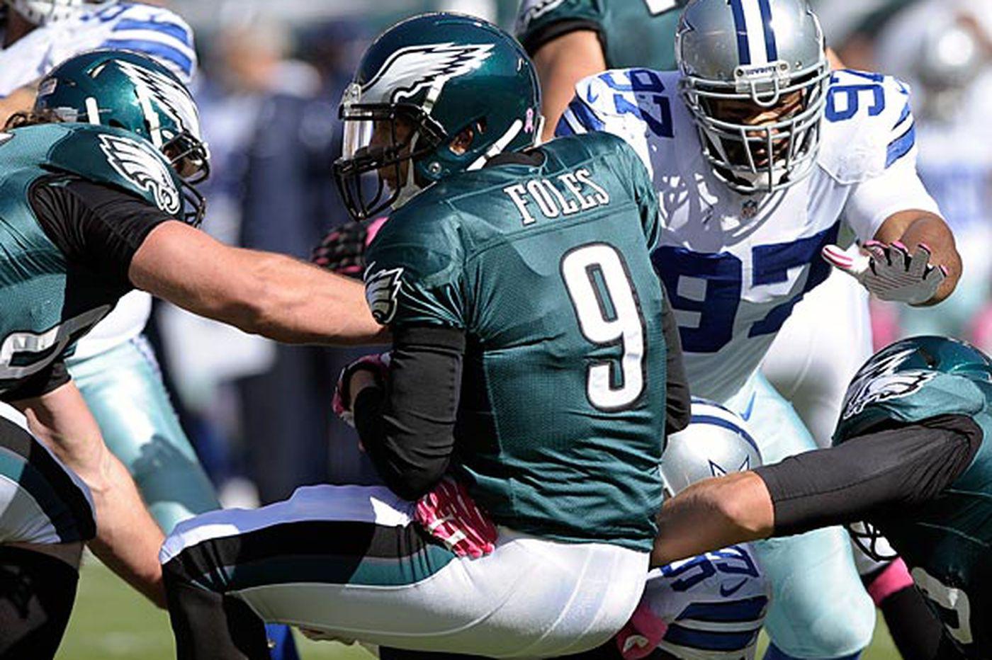 Eagles' Nick Foles says he didn't choke against Dallas, trusts Kelly, God