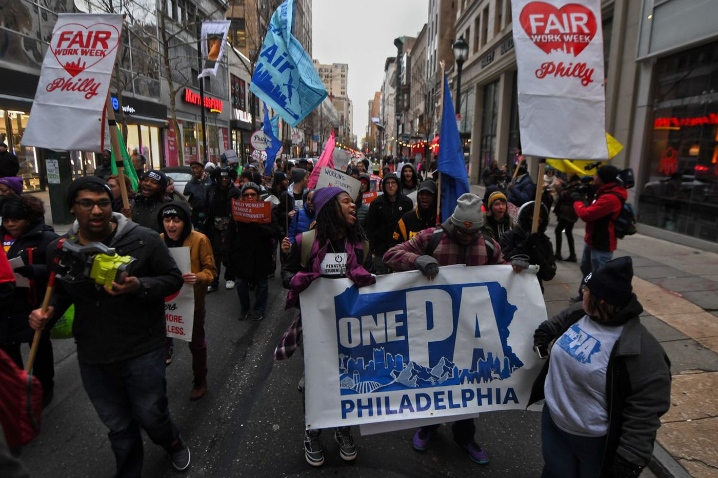The nationwide workers' fight against unpredictable hours has hit Philadelphia